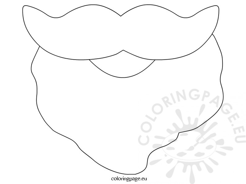 image relating to Beard Template Printable known as Beard template Coloring Site