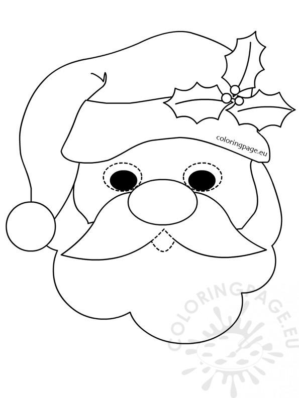 santa claus mask coloring page