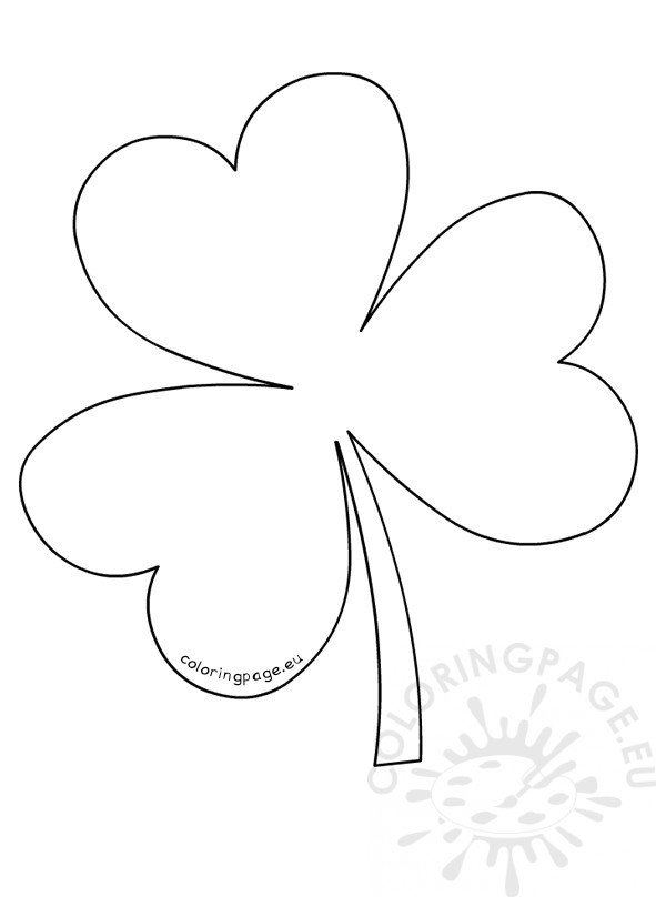 shamrock pattern template coloring page