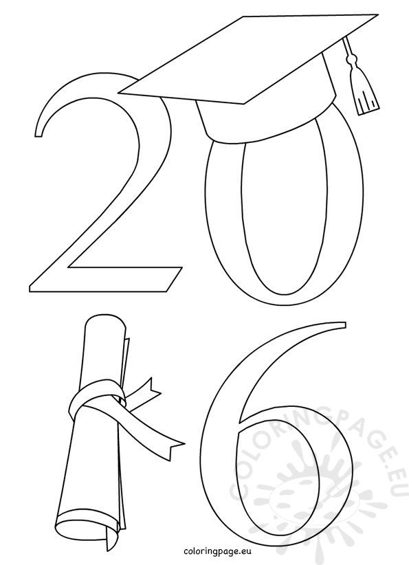 Graduation Coloring Pages Printables Class Of 2016 Graduation
