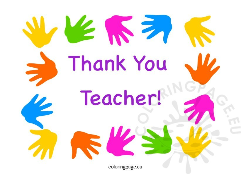 thank you teacher greeting card coloring page