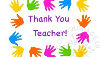 Teacher thank you card coloring page teacher appreciation week thank you teacher greeting card m4hsunfo