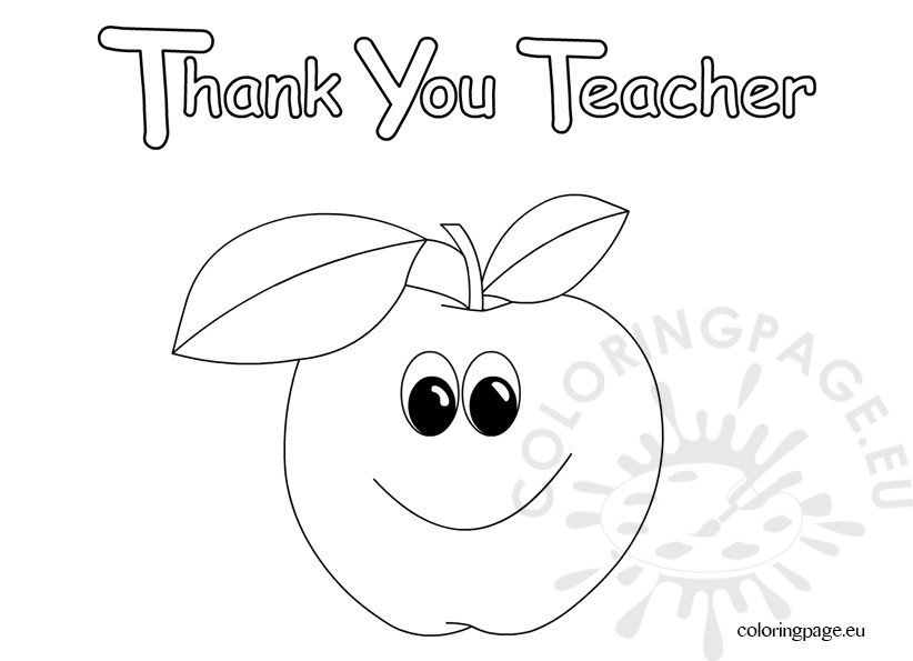 thank you teacher coloring sheets coloring pages