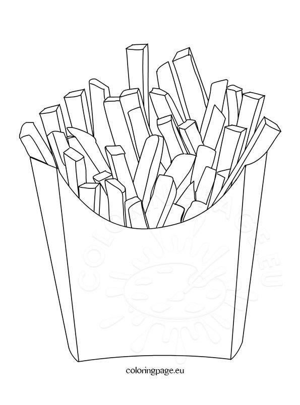 food coloring page potato chips – coloring page