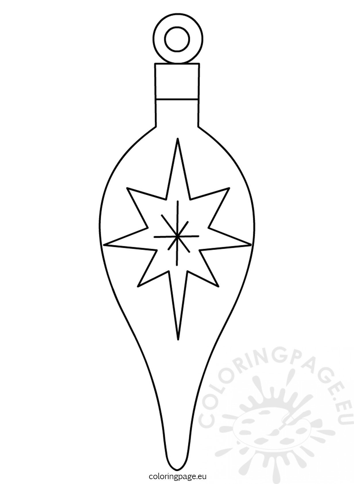 Christmas Tree Ornament Printable Coloring Page