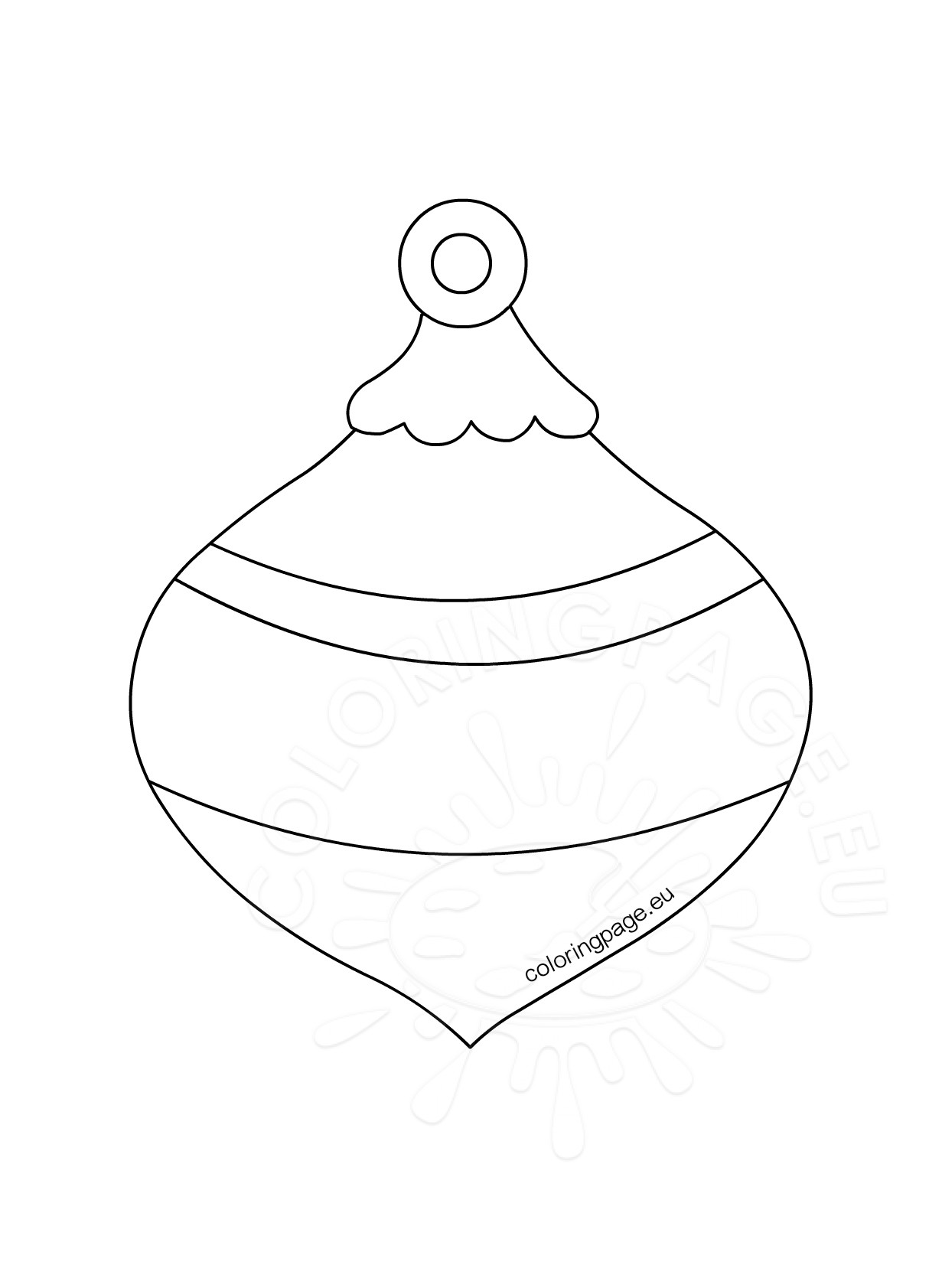 Honeycomb Christmas Ornament Template Coloring Page