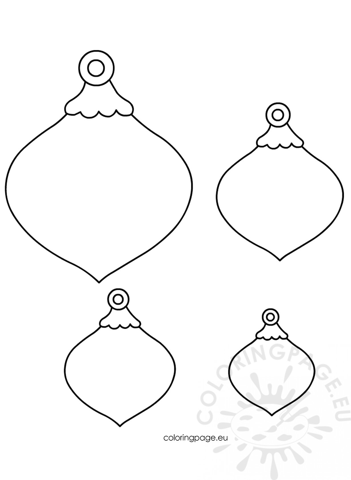 christmas felt ornaments patterns coloring page