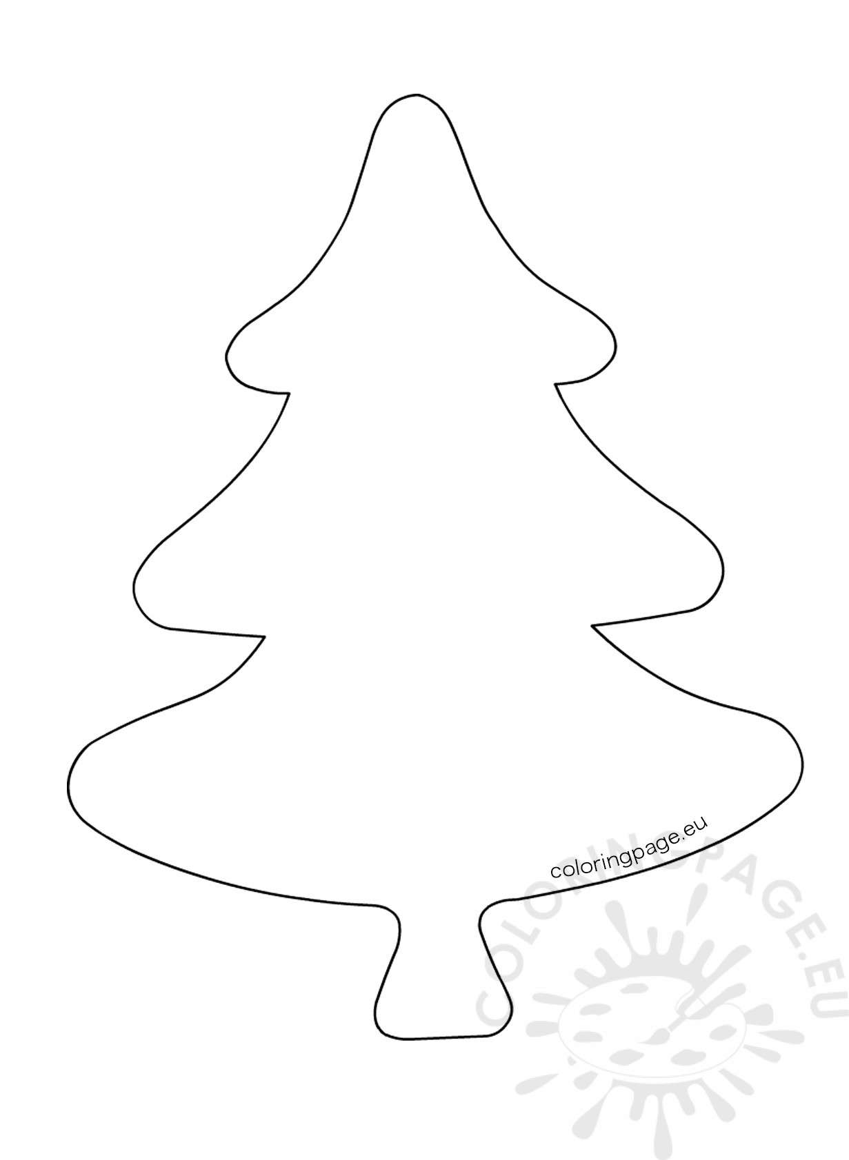 Felt Christmas Tree Ornament Template Coloring Page