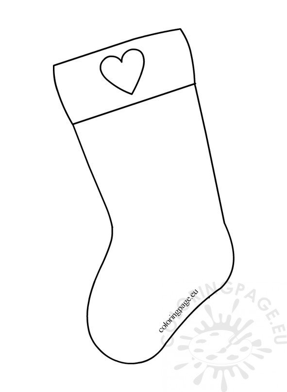 christmas stocking paper craft coloring page