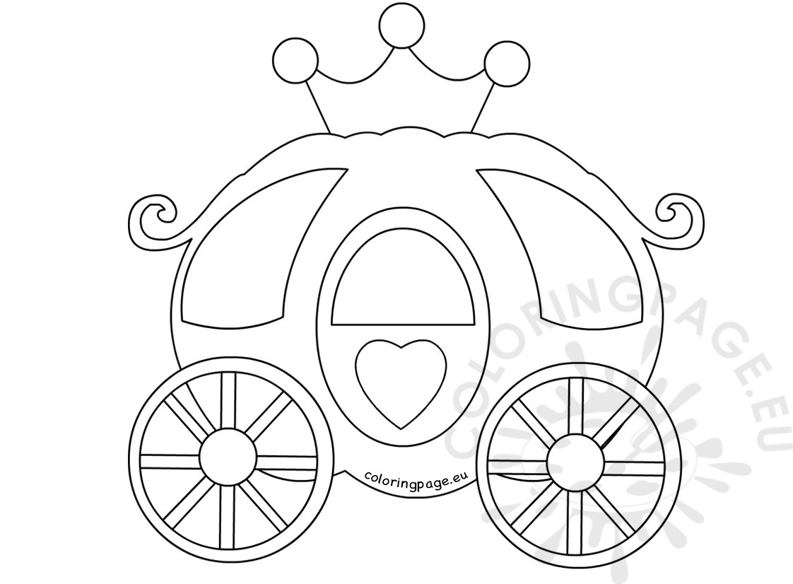 Pumpkin Carriage Coloring Book Coloring Page