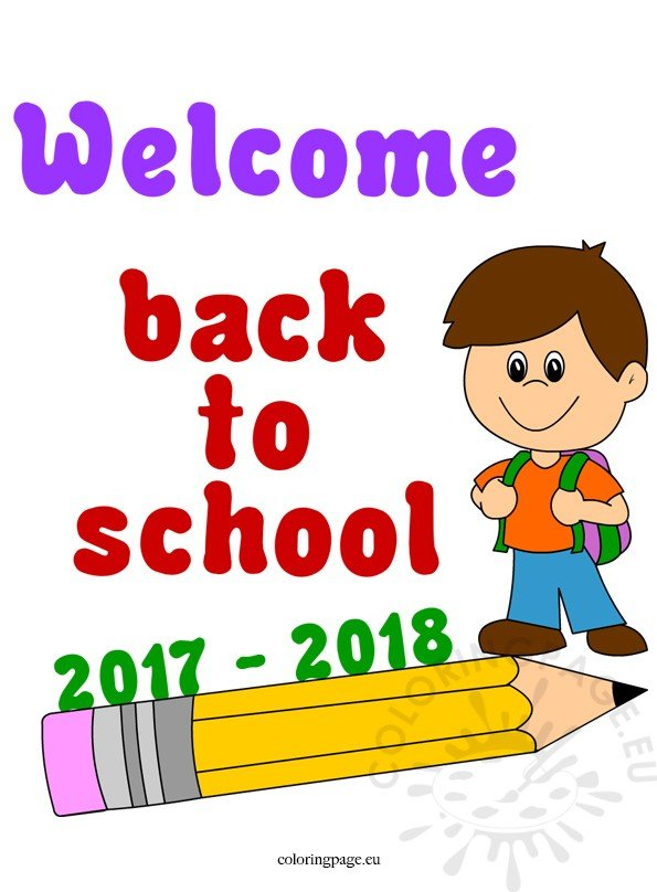 2017 2018 Welcome Back To School Coloring Page