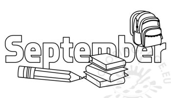 September Coloring Page Coloring Page