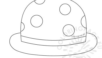 Classic Bowler Hat Template – Coloring Page 053d0d795bf