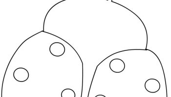 ladybug template cut outs coloring page