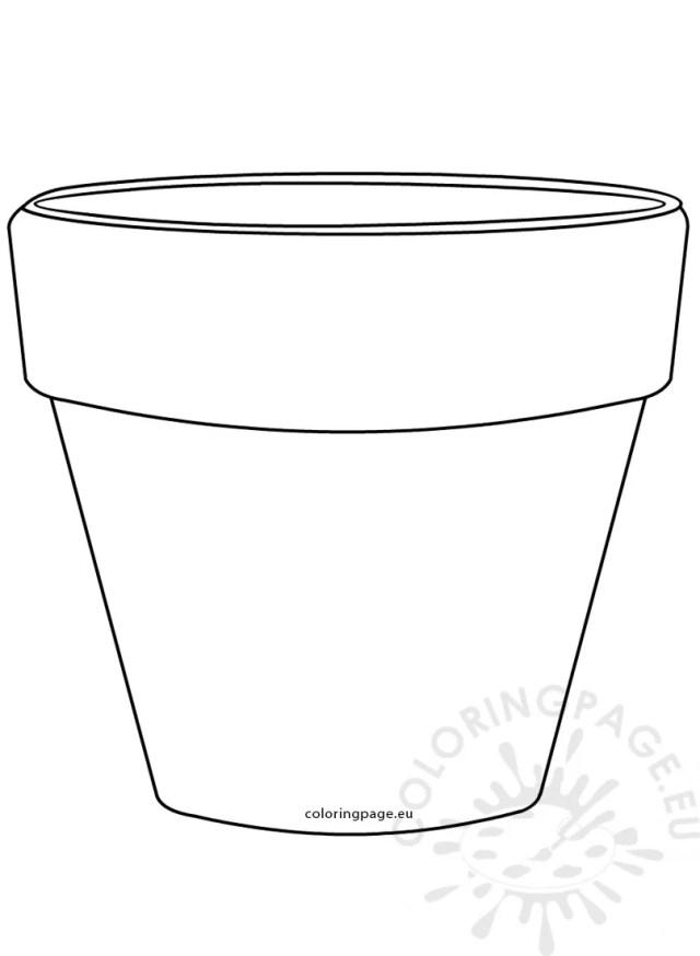 Printable Flower Pot Shape image – Coloring Page