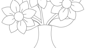flower vase template coloring page