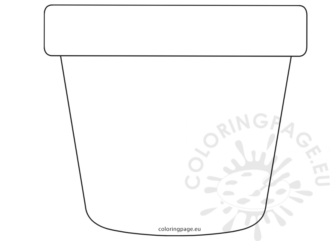 image about Printable Flower Pot named Moms Working day Flower Pot Fashioned Card Coloring Site