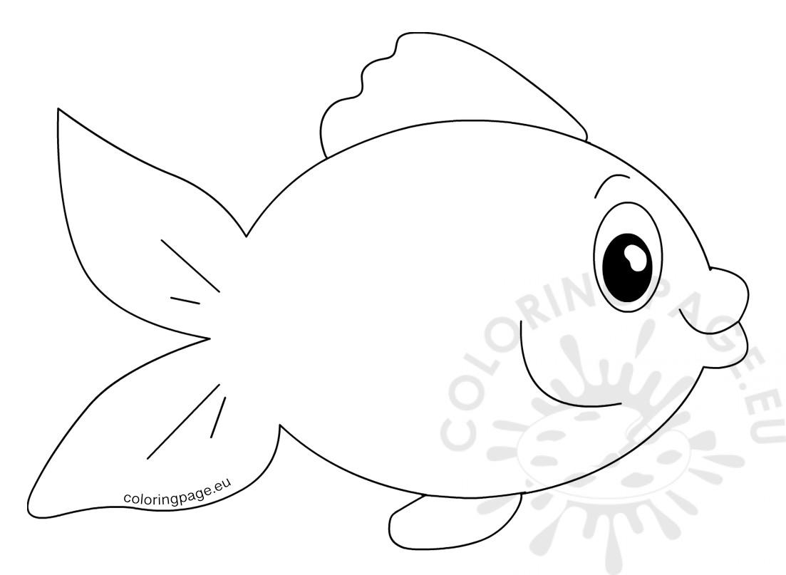 Cute Fish Cartoon Vector Image Coloring Page