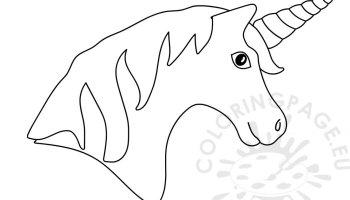 printable unicorn shape template coloring page