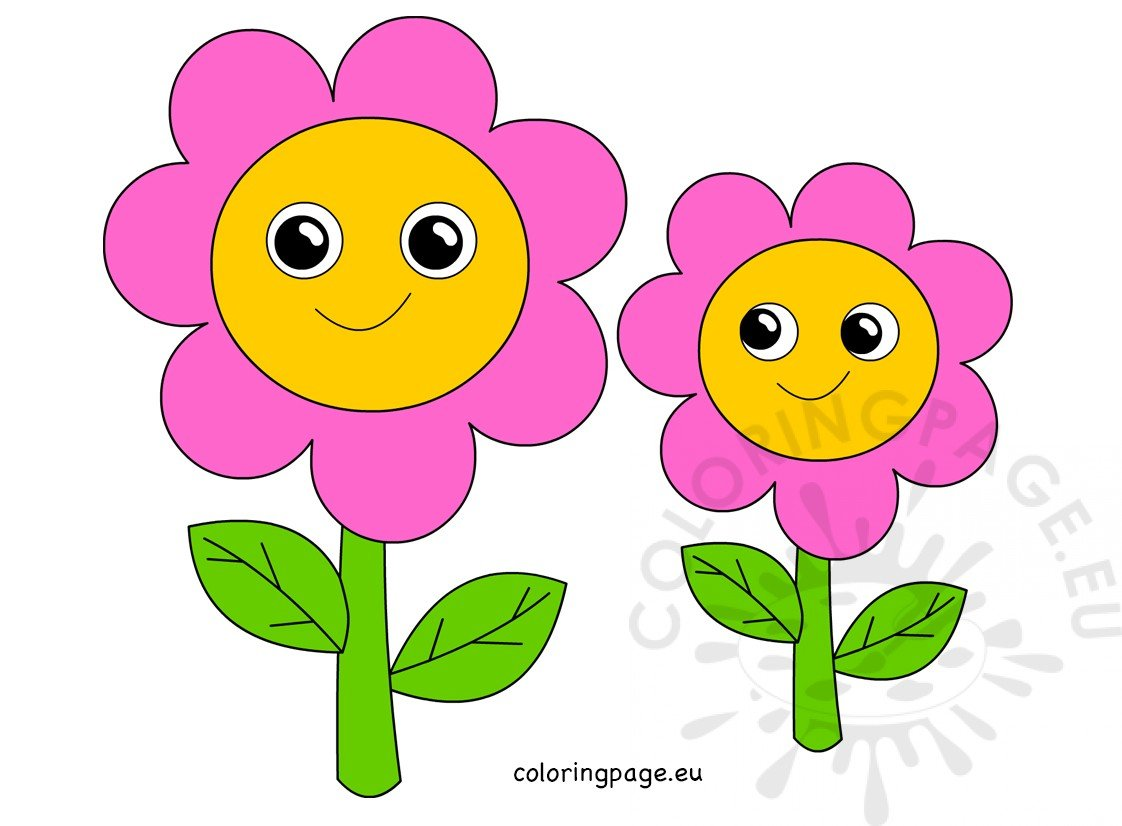 Cute Pink Flowers Mother S Day Coloring Page