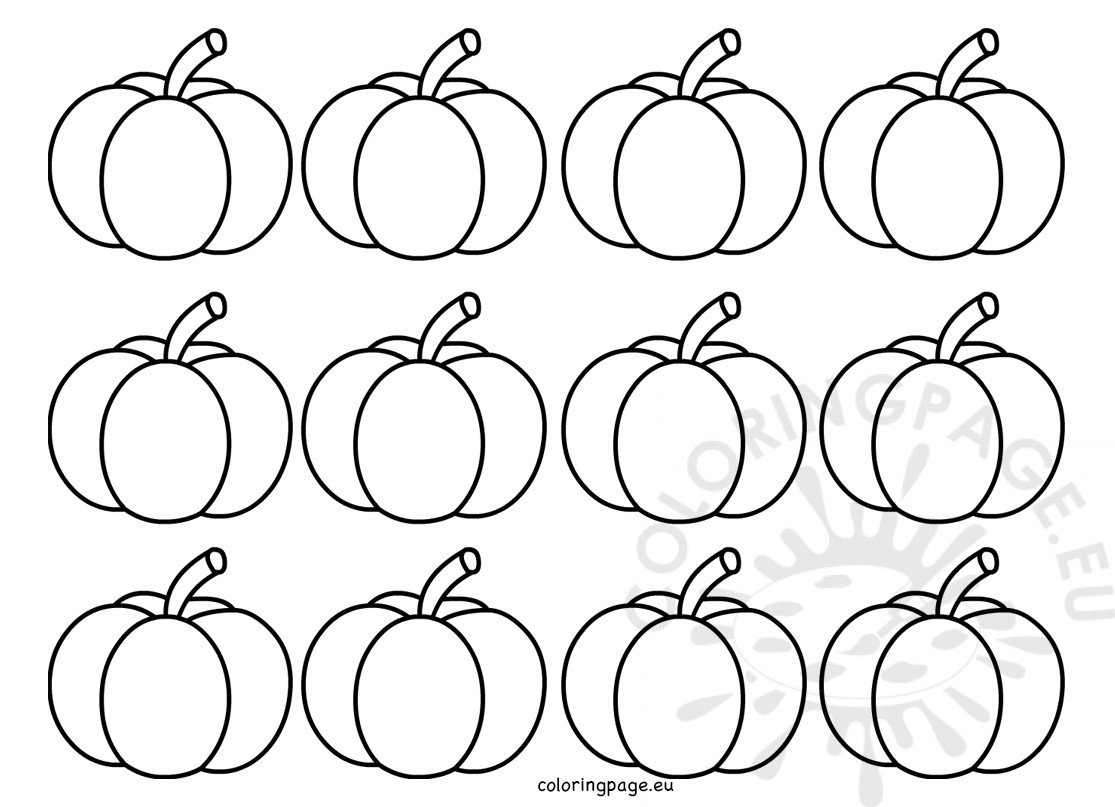 Small Pumpkin Shape Template Coloring Page