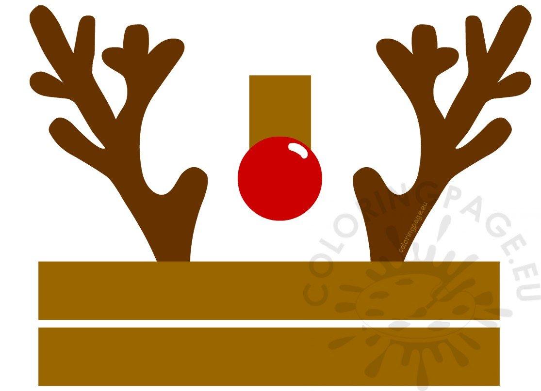 Christmas Reindeer Hat Craft Printable Coloring Page