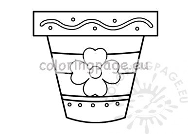 photograph regarding Vase Template Printable named Vase with bouquets Think about In direction of Colour Coloring Webpage
