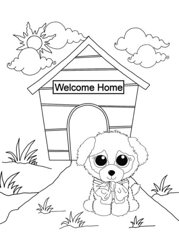 beanie boo duke coloring pages  coloring page base