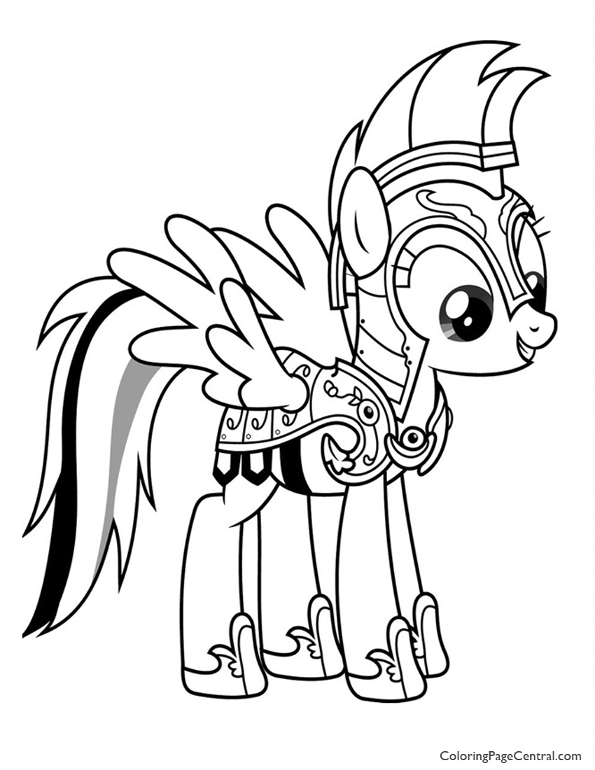 My Little Pony Rainbow Dash 02 Coloring Page Coloring