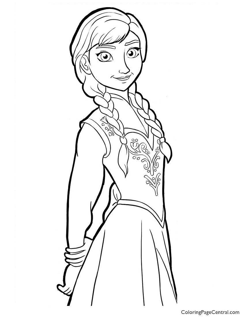 Anna Coloring Pages Free Coloring Pages Download | Xsibe elsa ...