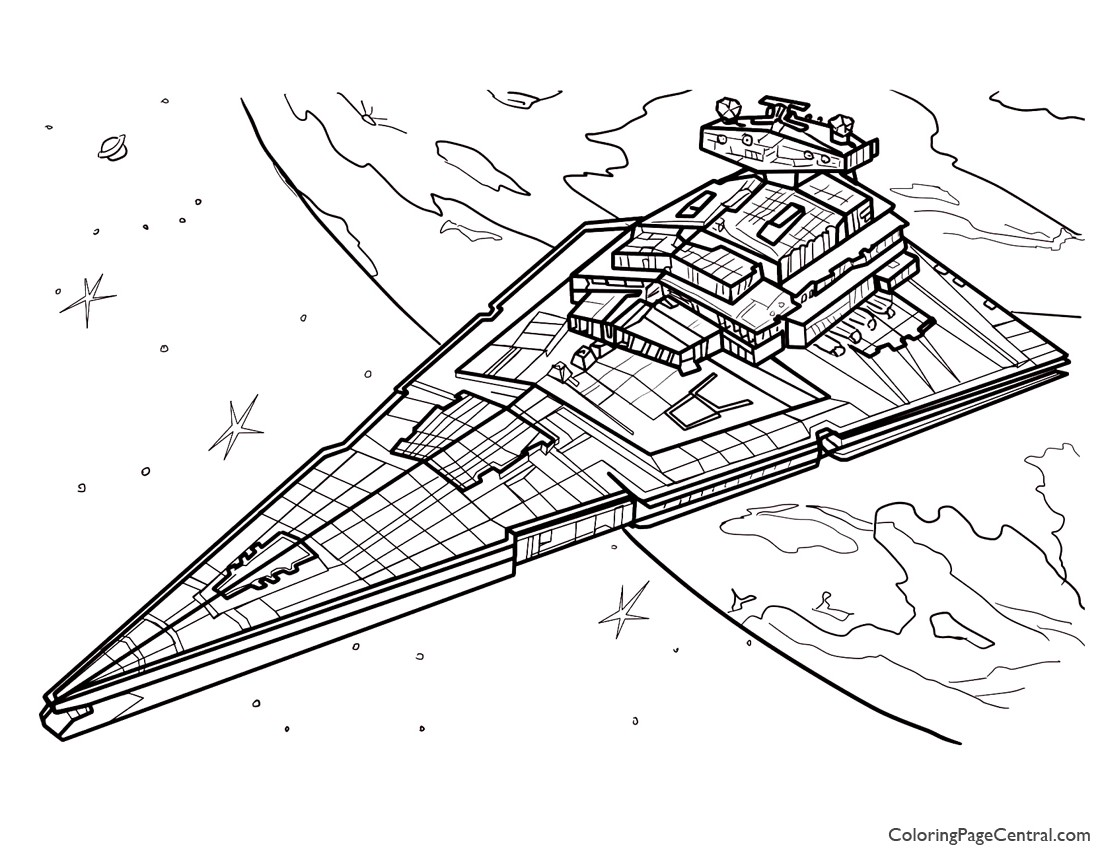 Star Wars Star Destroyer Coloring Page
