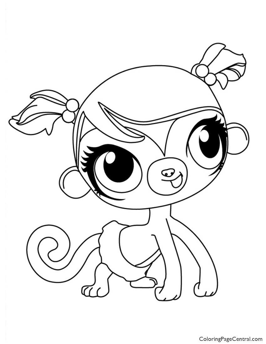 Littlest Pet Shop Minka Mark Coloring Page Coloring
