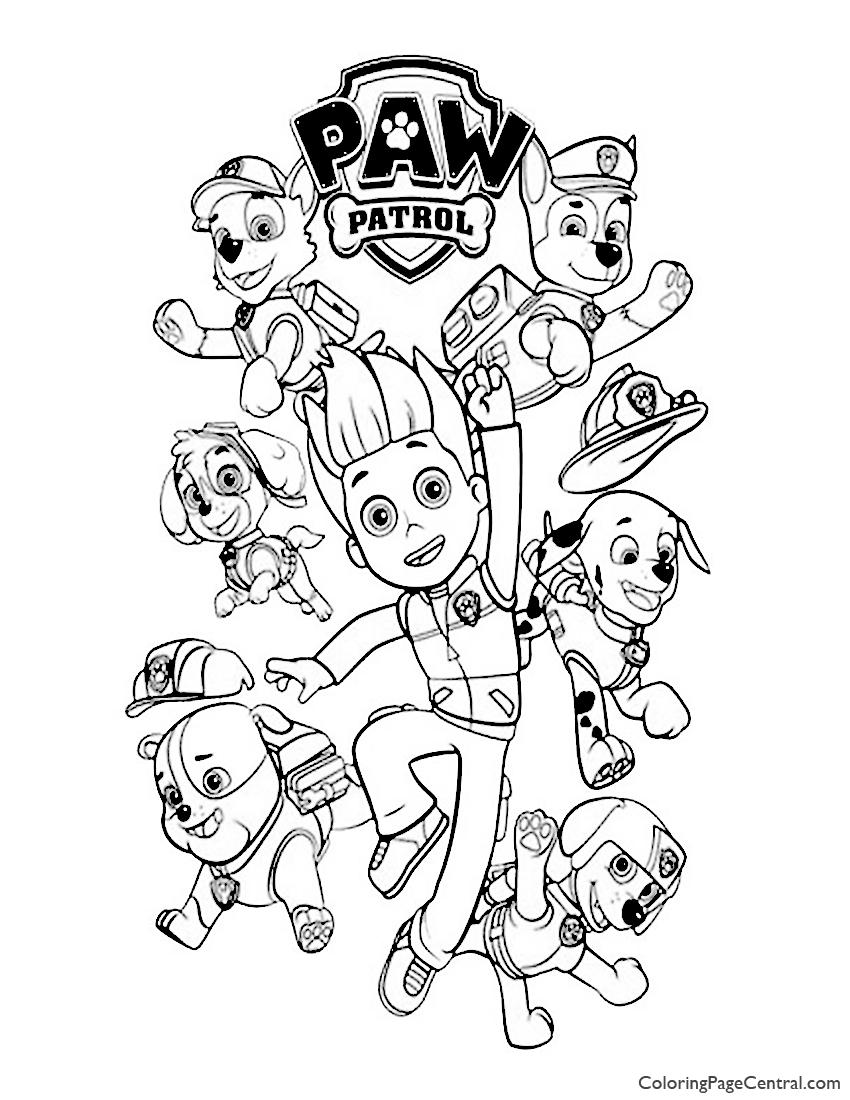 Paw Patrol Coloring Page 02 Coloring Page Central