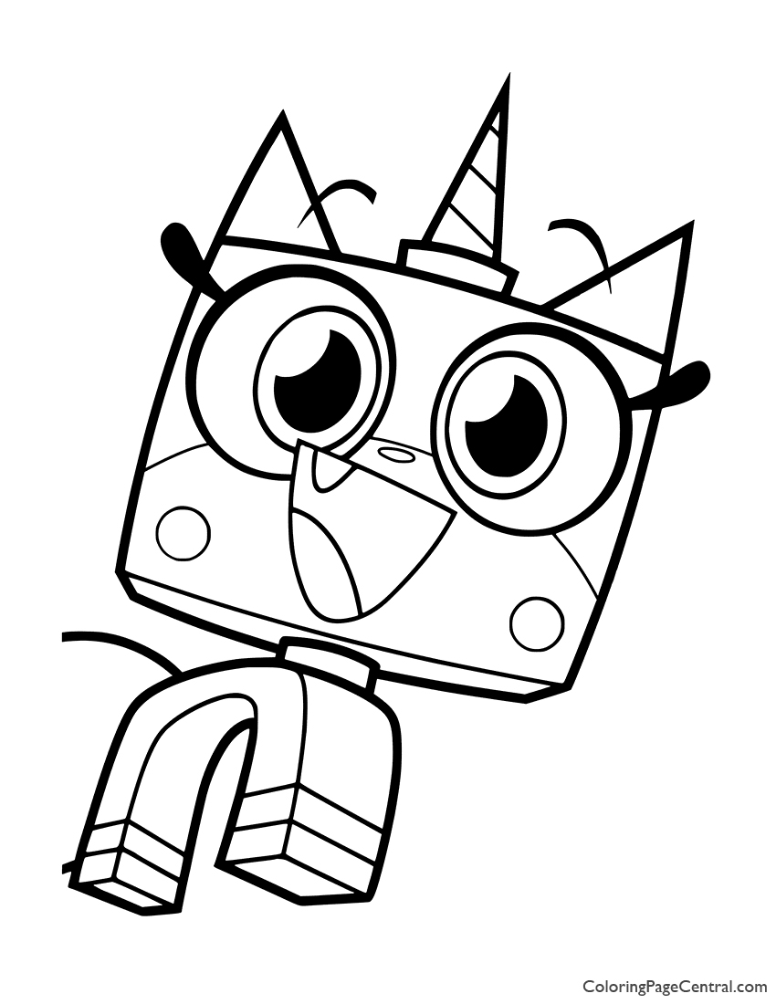 UniKitty Coloring Page 06 Coloring Page Central