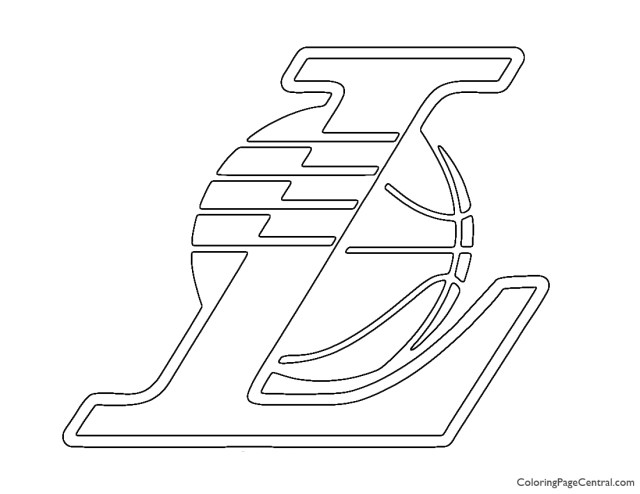 NBA Los Angeles Lakers Logo 20 Coloring Page  Coloring Page Central