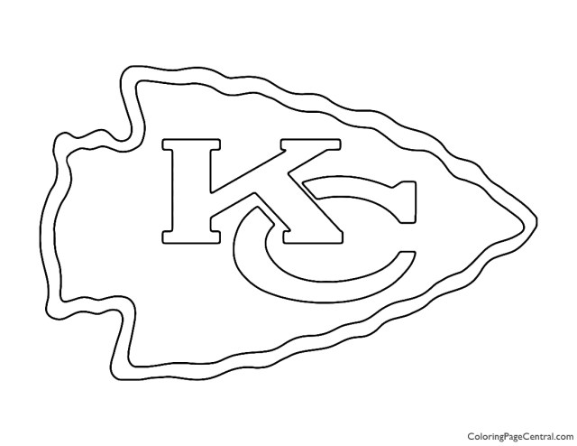 NFL Kansas City Chiefs Coloring Page  Coloring Page Central