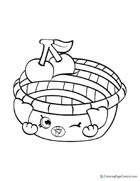 Pie Coloring Page Central