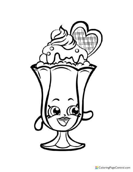 Dessert Coloring Page Central
