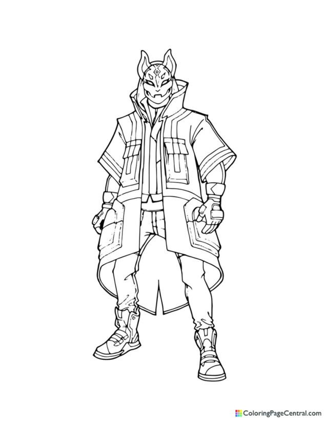 Fortnite - Drift 21 Coloring Page  Coloring Page Central