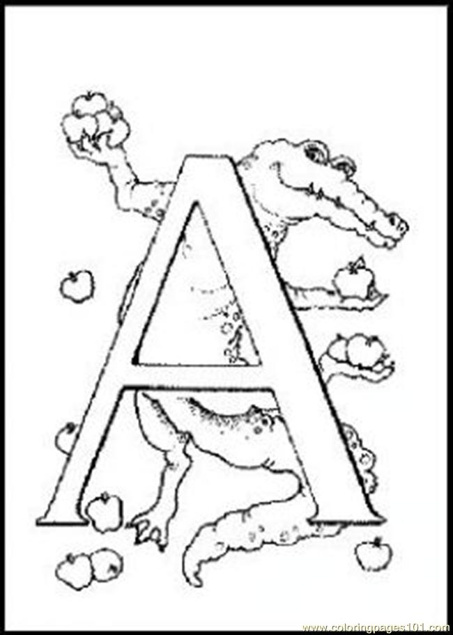 F260 Coloring Page Free Alphabets Coloring Pages