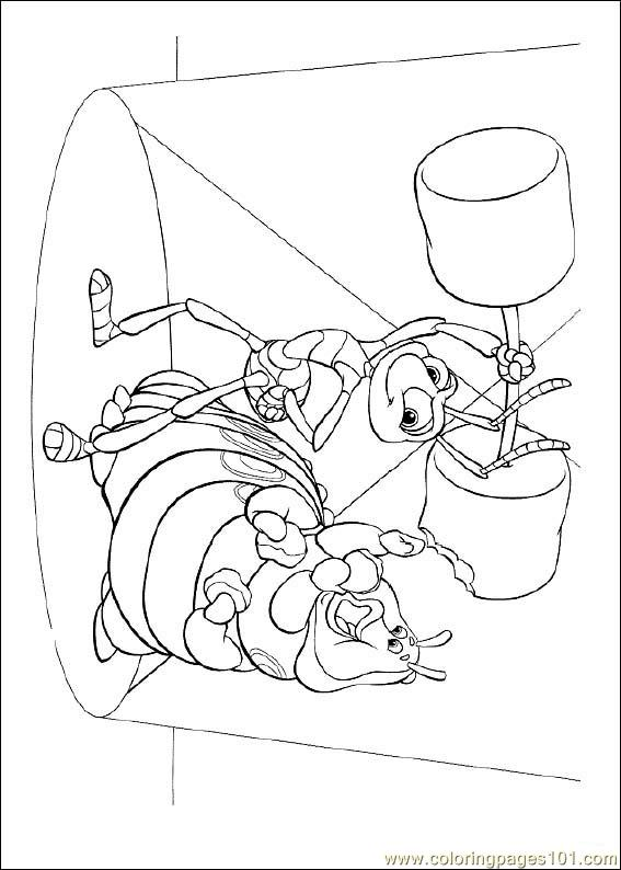 coloring pages bugslife 07 cartoons gt a bugs life free printable