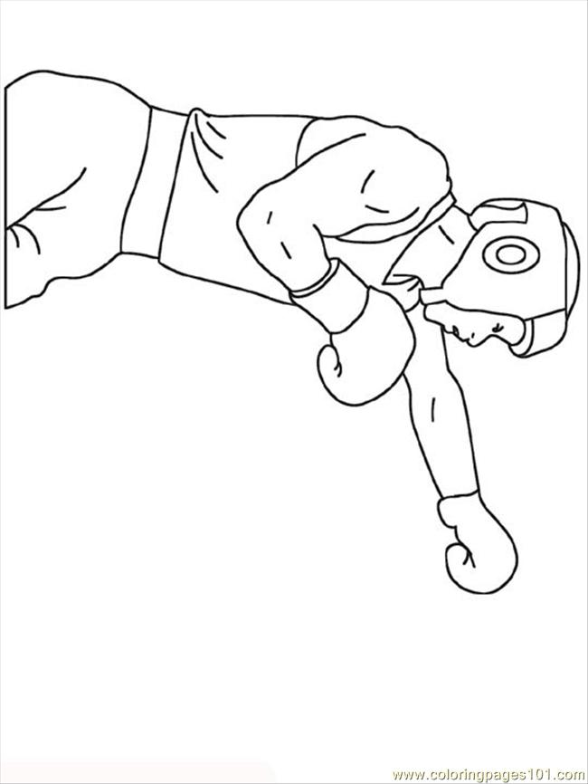 coloring pages boxer (sports > boxing)  free printable