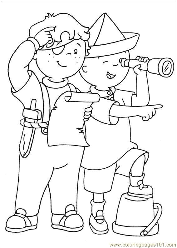 coloring pages caillou coloring pages 020 (cartoons