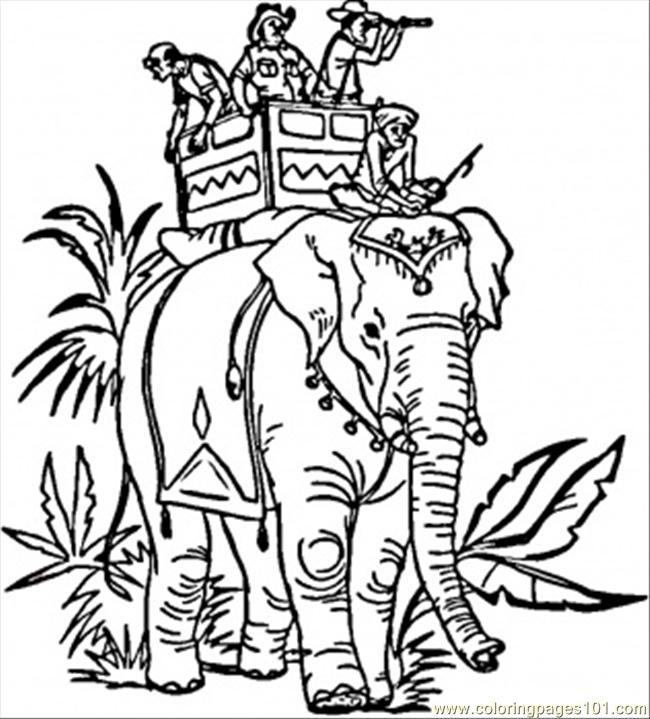 free printable page elephant countries gt