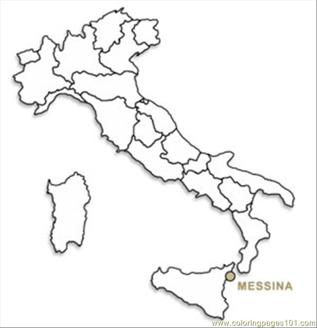 coloring pages italy map09b (countries > italy)  free