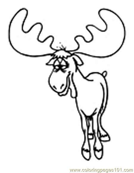 moose coloring page moose walking alone coloring page moose