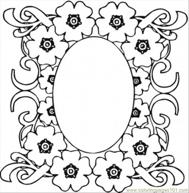 free printable coloring page mirrow in the flowers other gt pattern