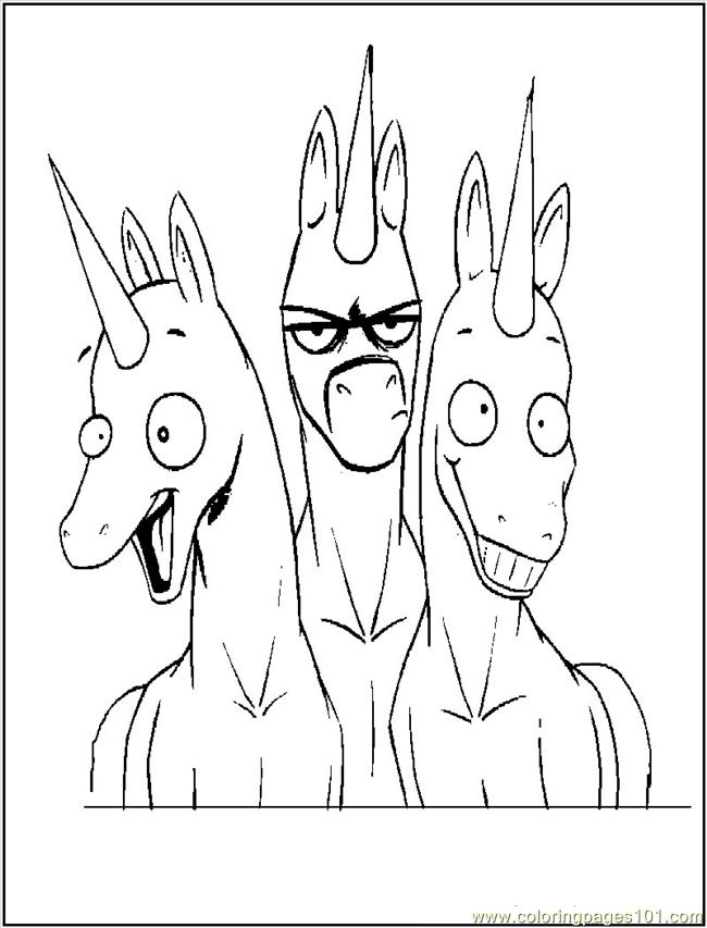 funny unicorns colouring pages