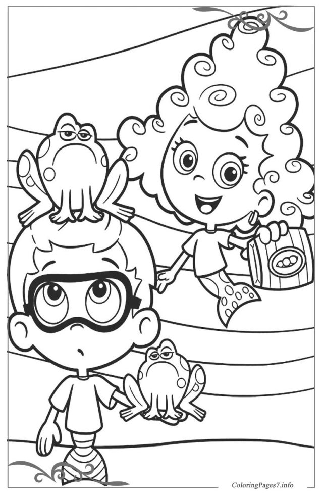 Bubble Guppies Printable coloring Pages for boys