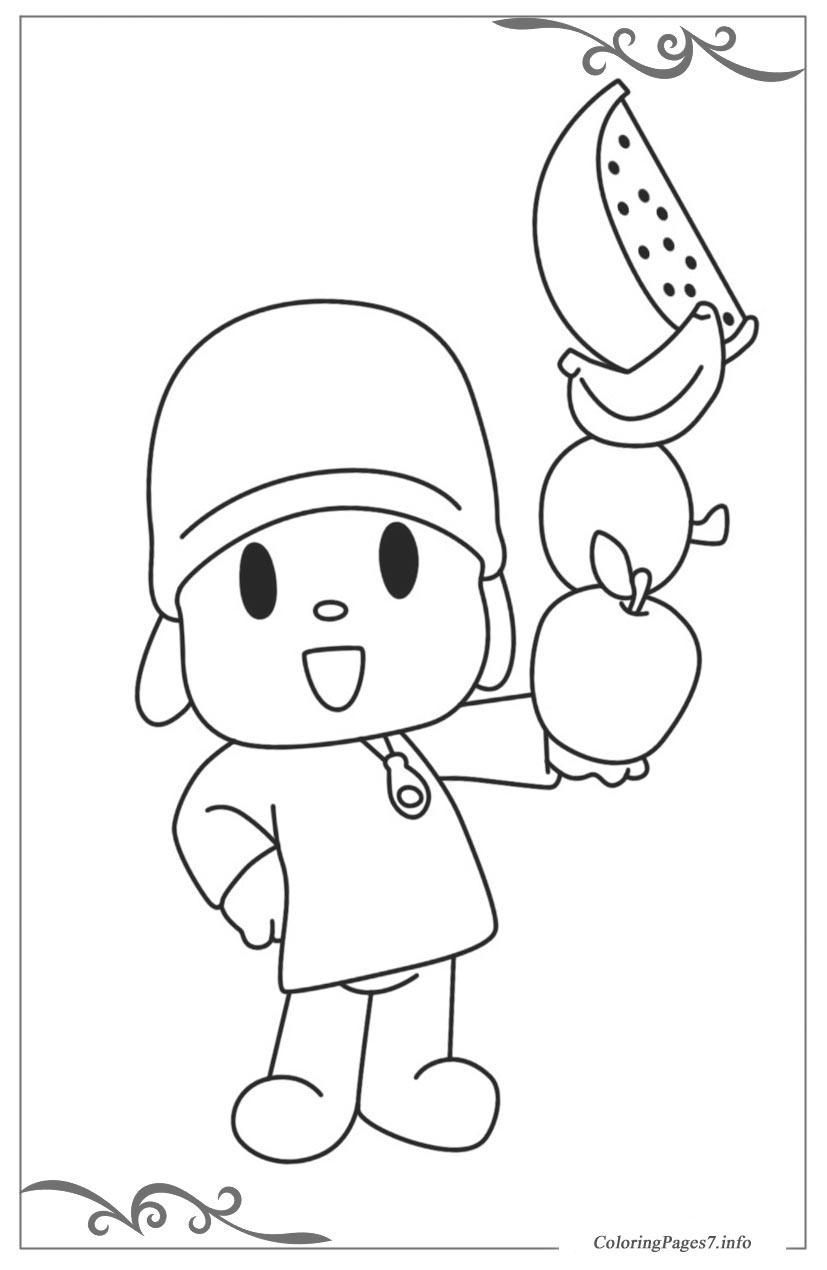 pocoyo printable coloring pages online for kids